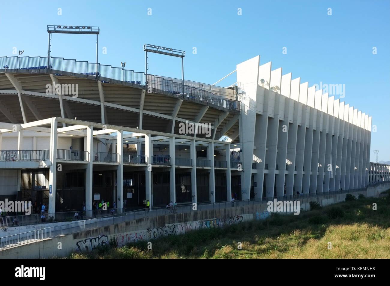 Outside the La Rosaleda Stadium, Malaga, Andalucia, Spain, September 2017 - Stock Image