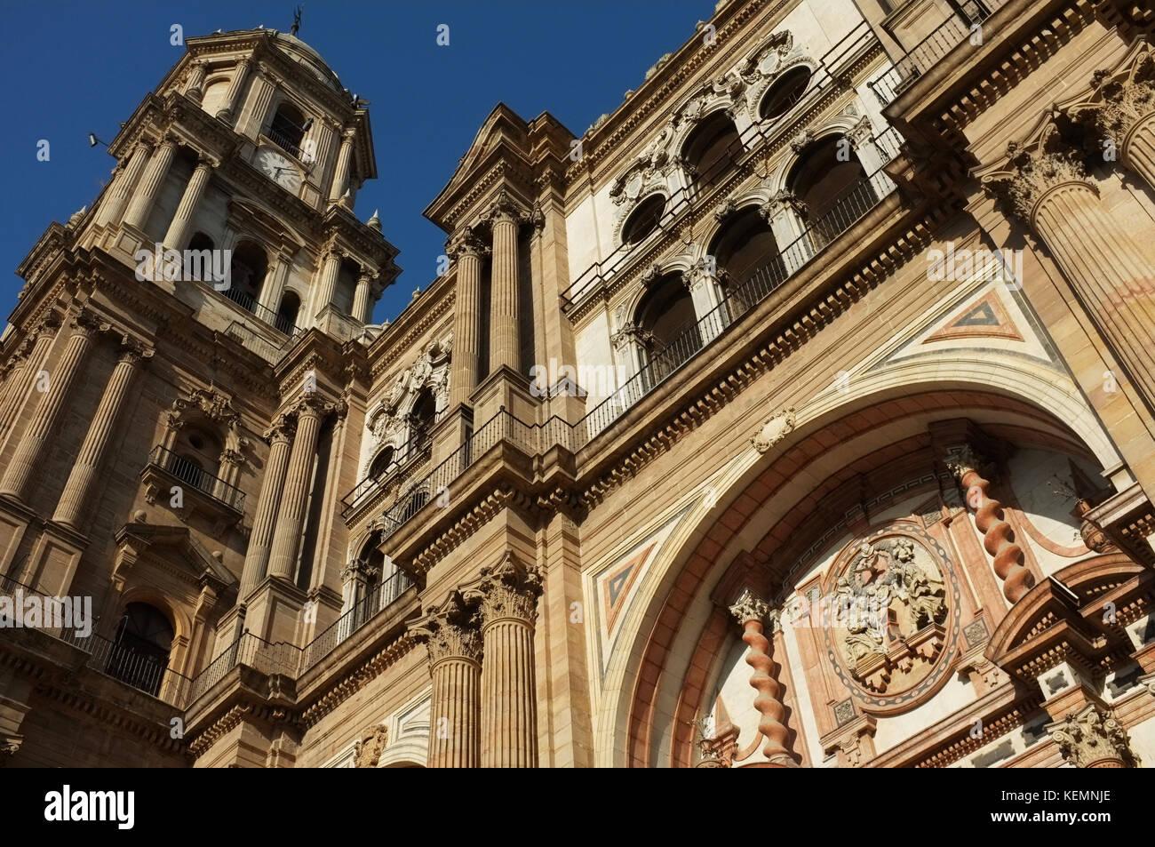 Málaga Cathedral, Malaga, Andalucia, Spain, September 2017 - Stock Image