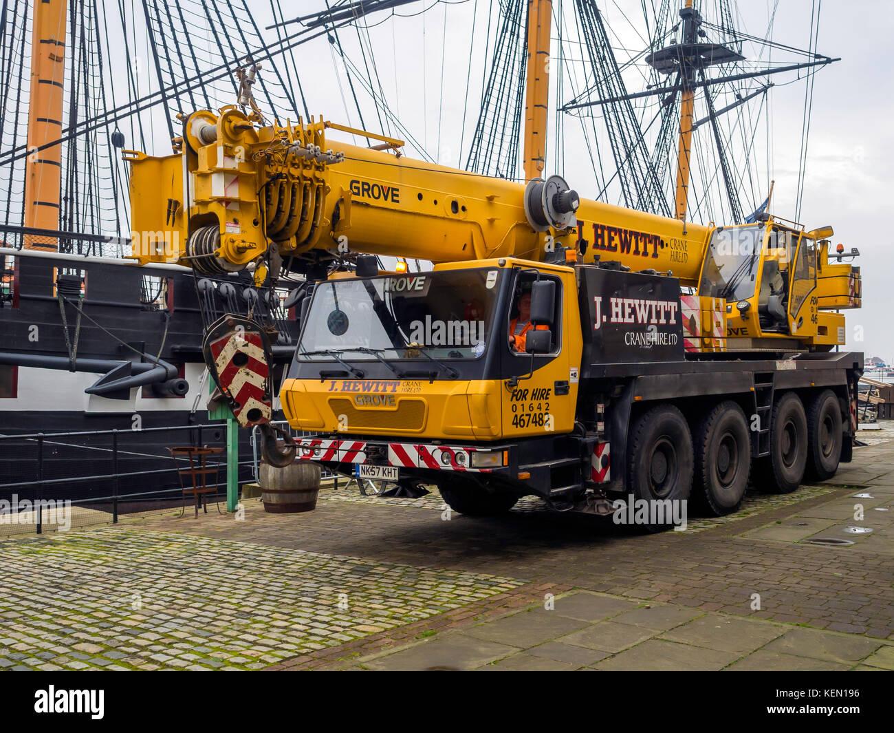 Mobile Crane Rigging : Mobile crane stock photos images alamy