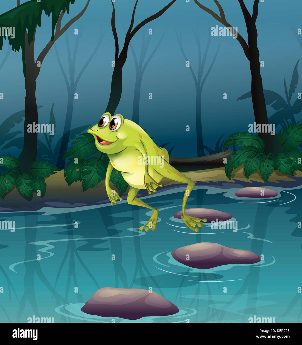 a puzzle on leap frog jumping