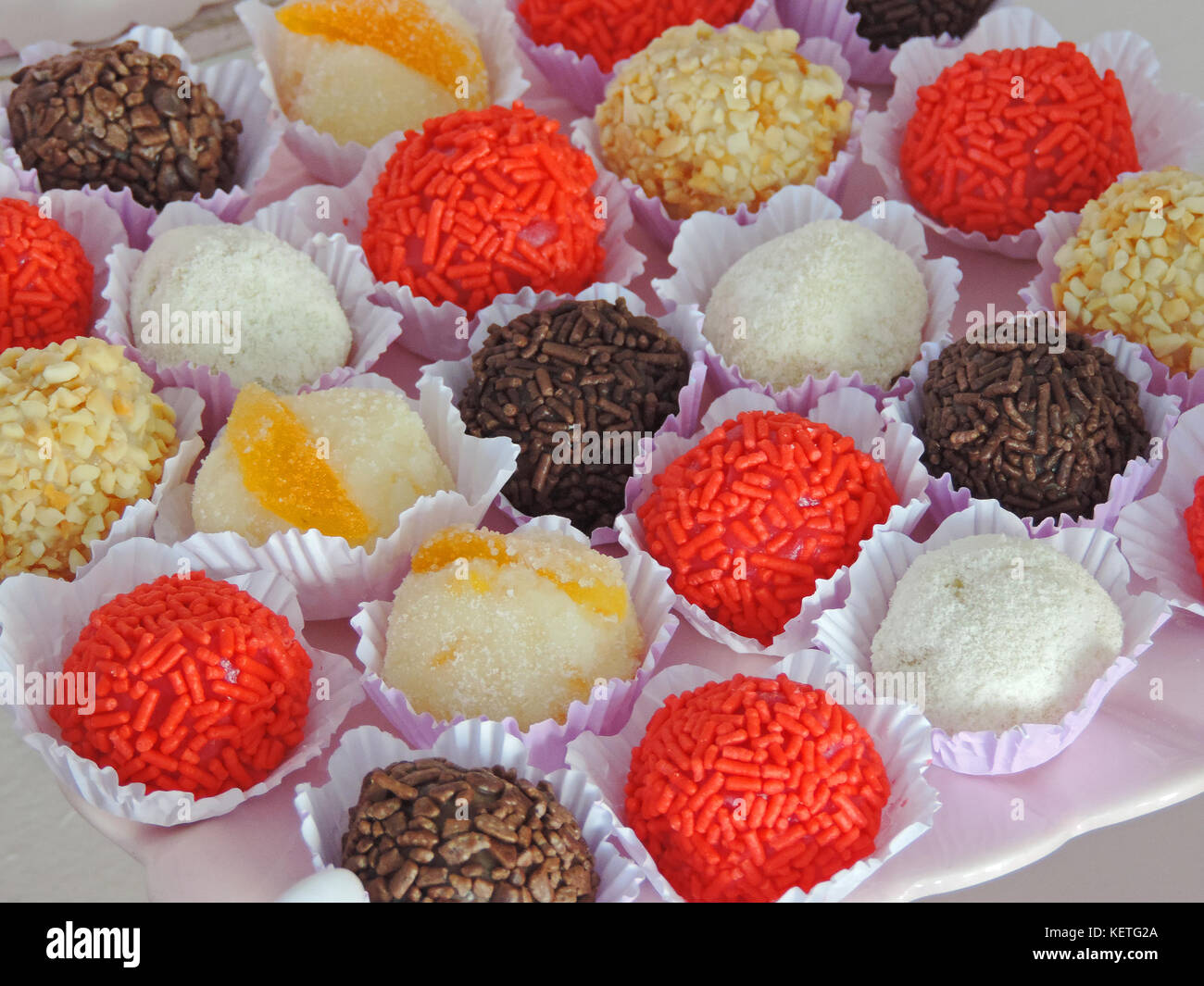 Colored candies - Stock Image