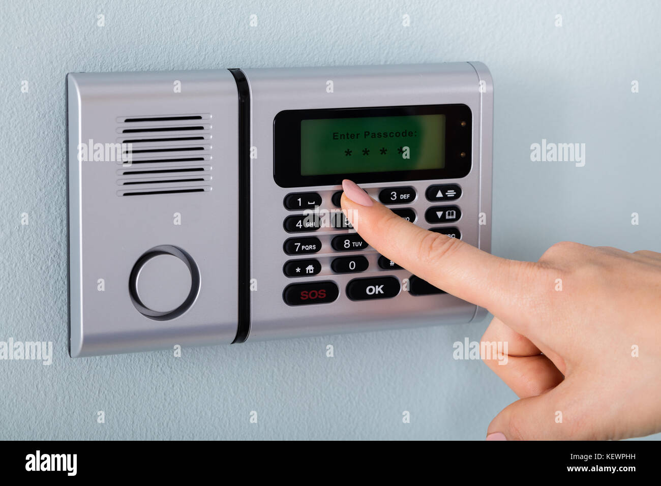 how to change home security code