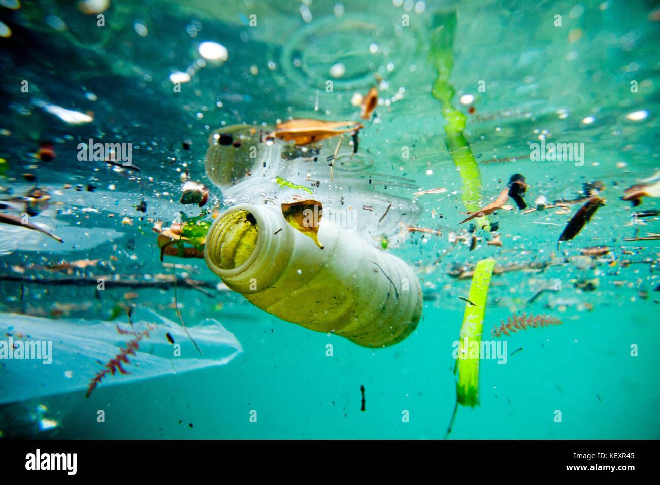 Plastic Pollution And Ocean Stock Photos Amp Plastic