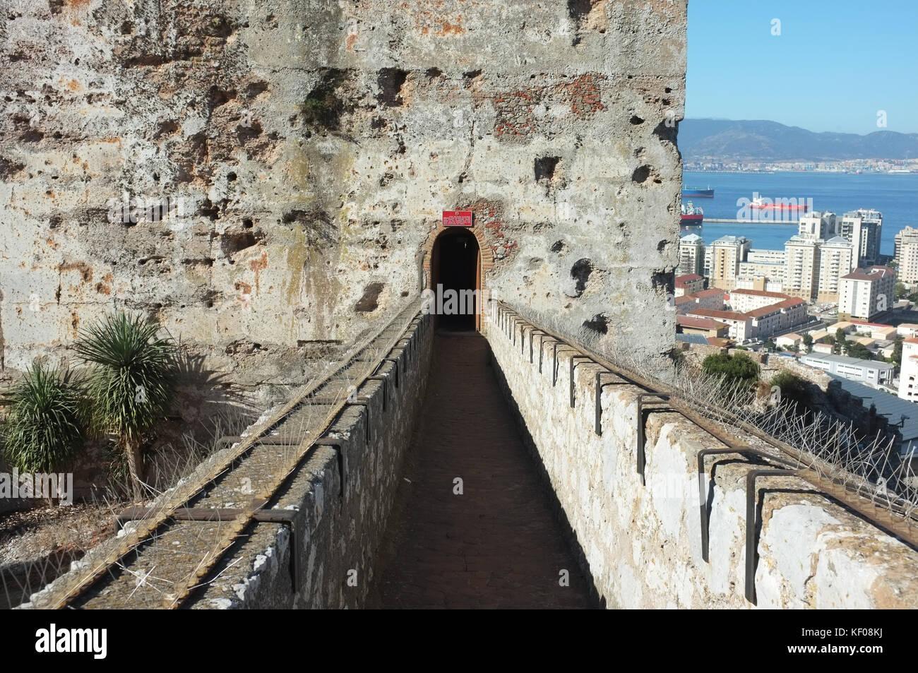 Moorish castle, Gibraltar, September 2017 - Stock Image