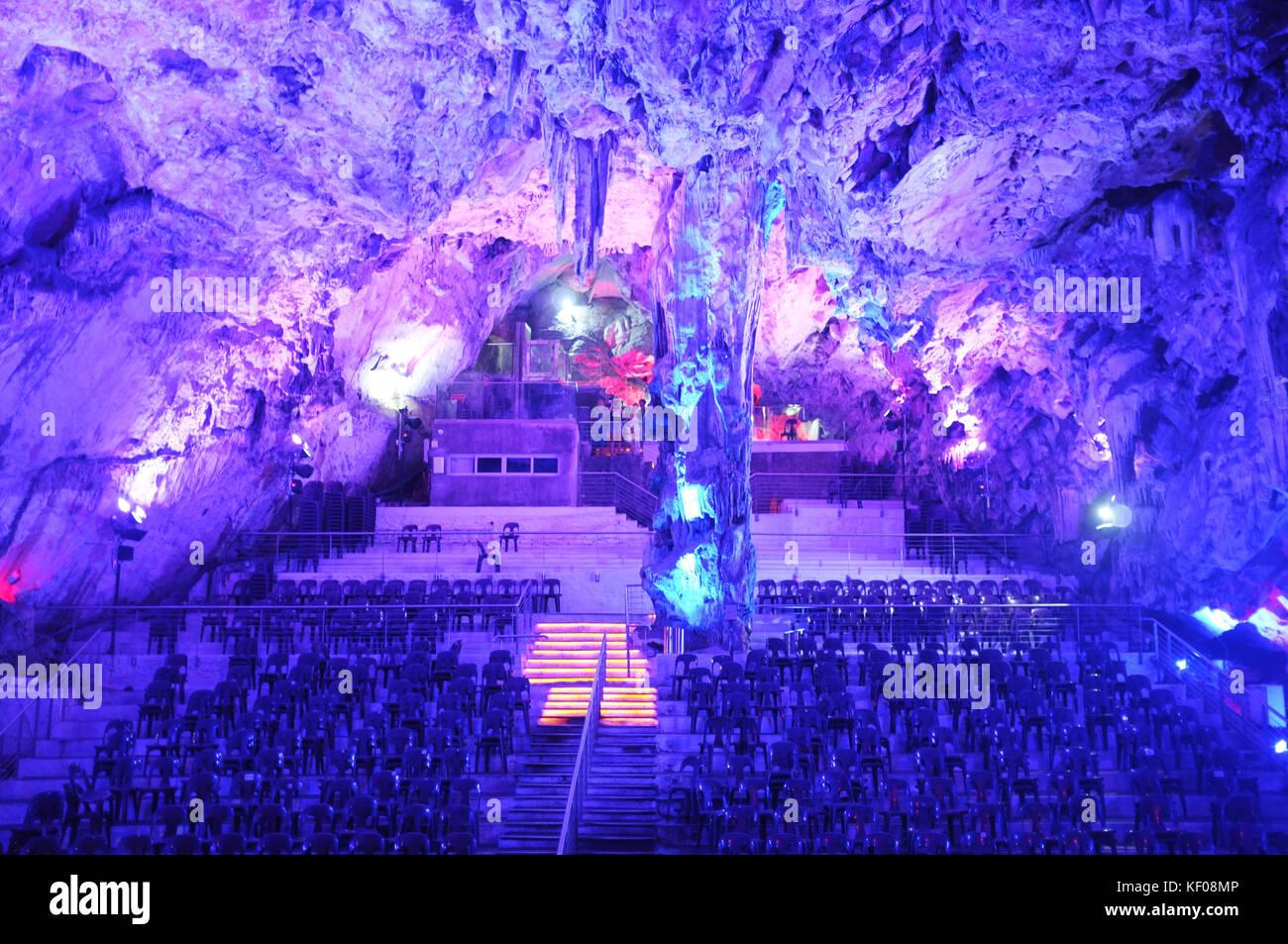 St. Michael's Cave, Gibraltar, September 2017 - Stock Image