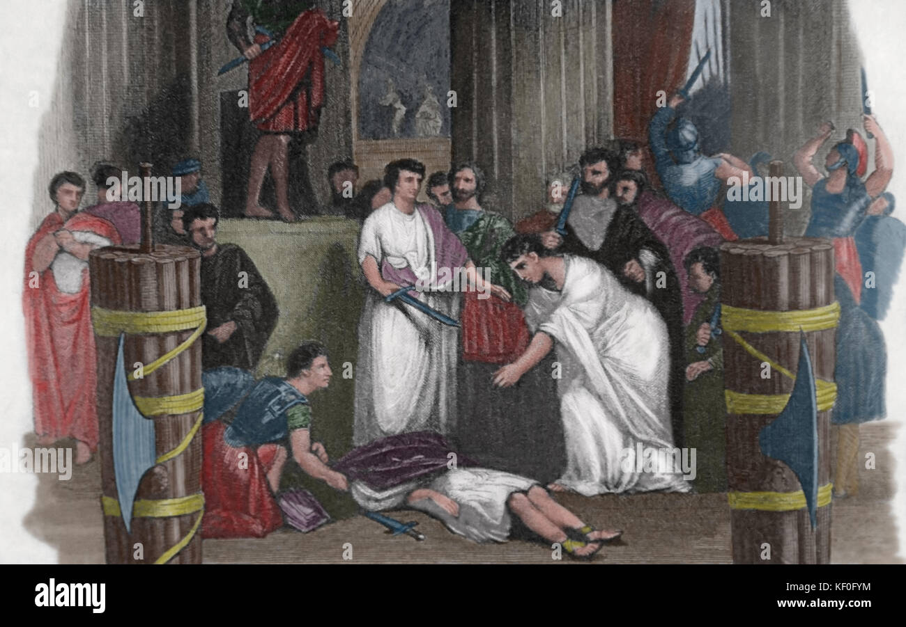 an examination of the assassination of julius caesar in 44 bc Here is my one-shot story about the assassination of julius caesar the reason for this, is because, today the fifteenth of march, 44 bc.