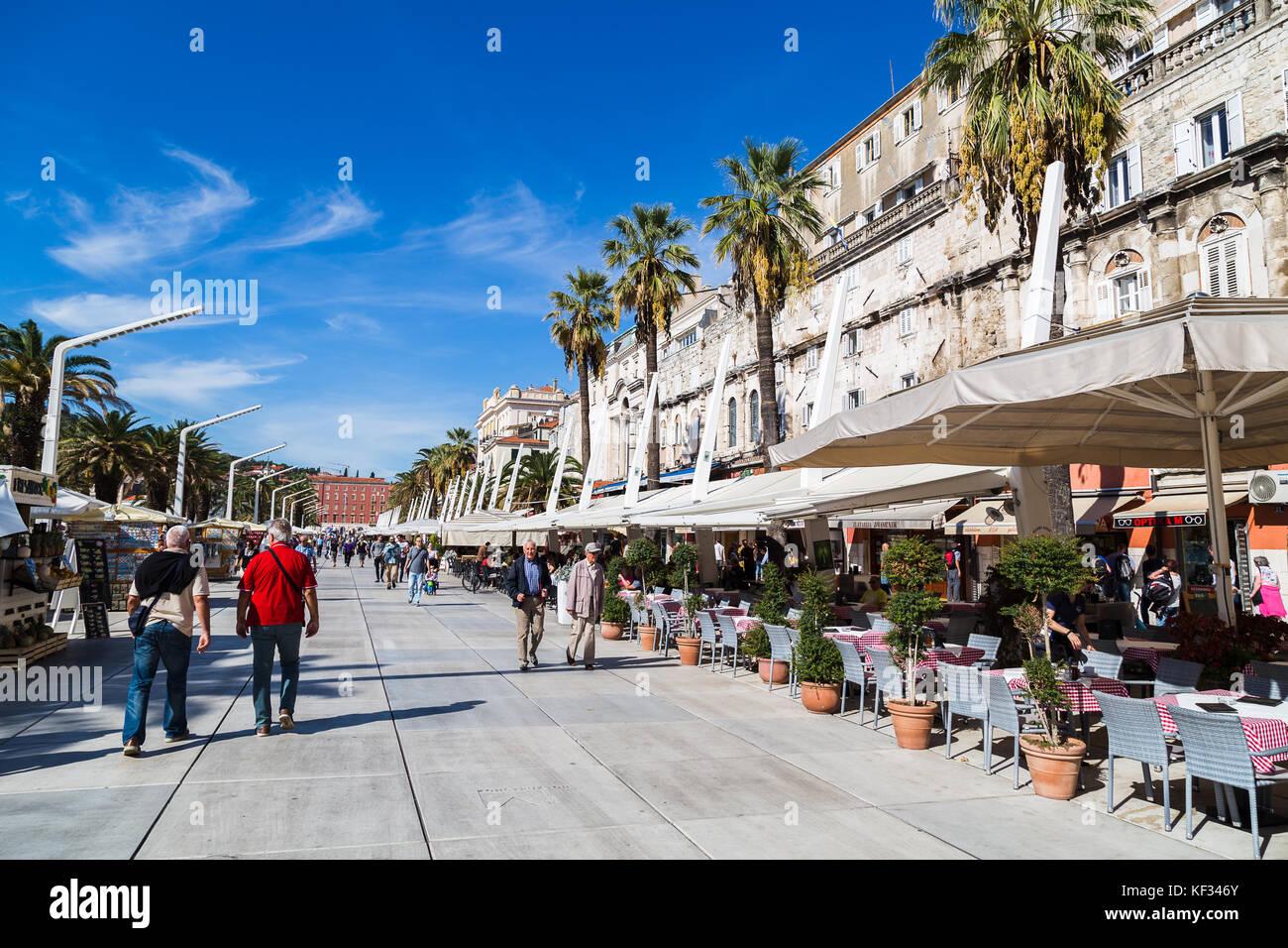 Cafe Riva Waterfront Split Croatia Stock Photos & Cafe ...