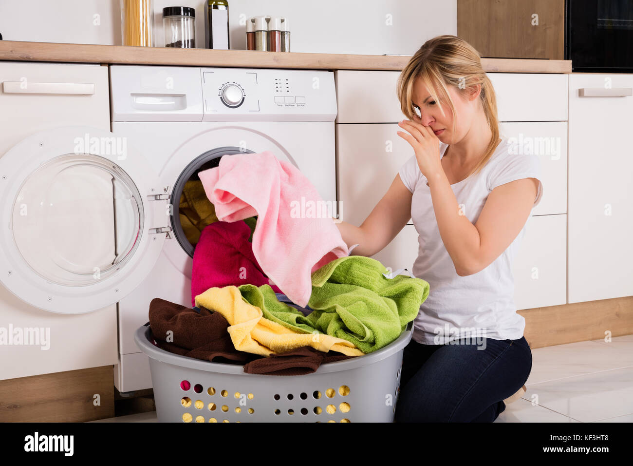 the process of washing clothes