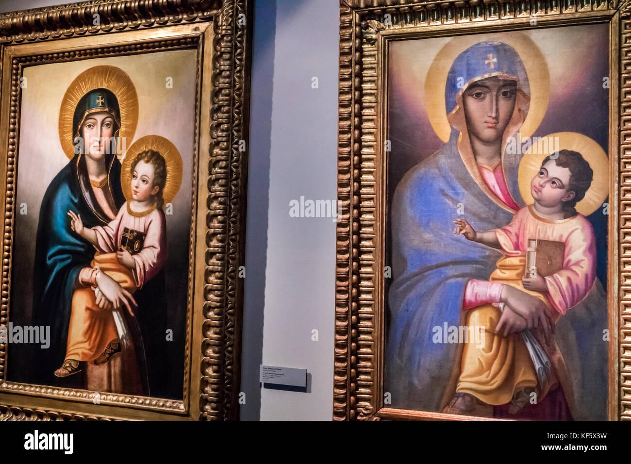 Lisbon Portugal Bairro Alto Museu de Sao Roque Saint Roch museum exhibit Catholic religion sacred artworks religious - Stock Image