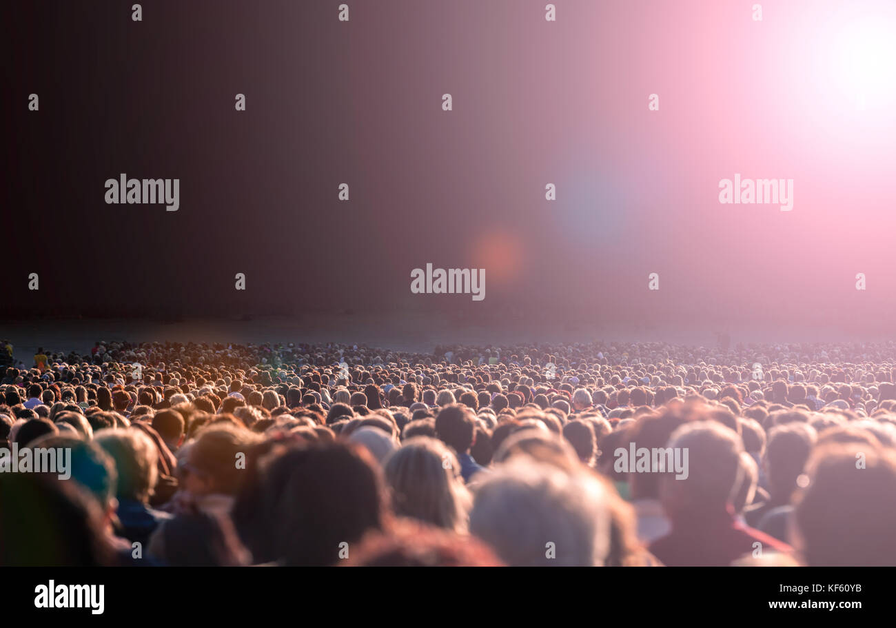 Large crowd of people - Stock Image