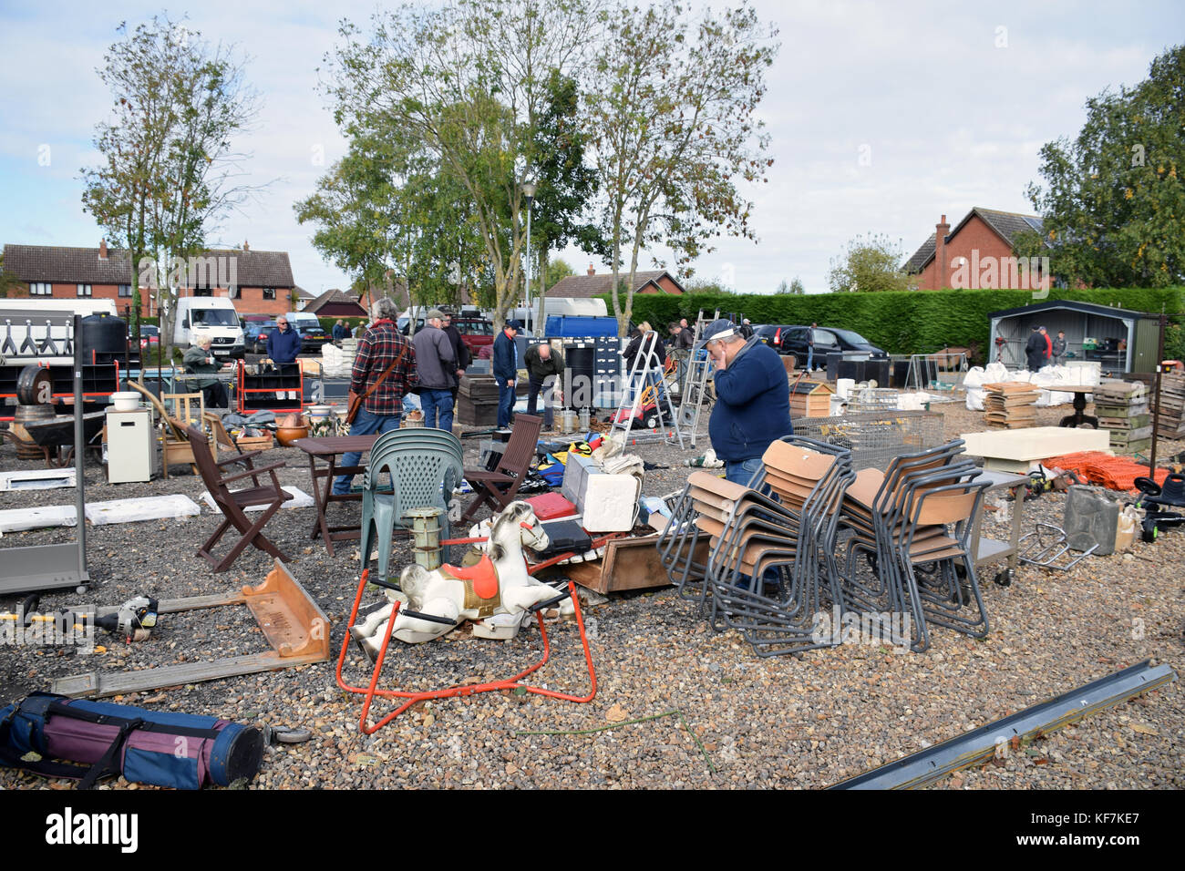 Diss Auction Rooms - sale of architectural salvage and garden items. Norfolk - Stock Image