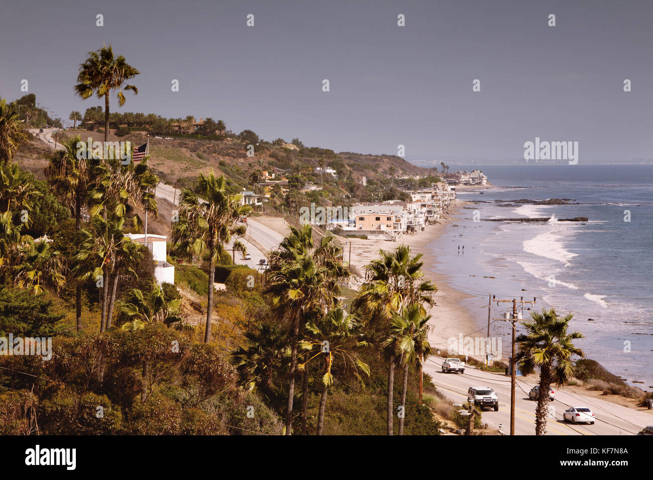 Malibu Coastline Pacific Coast Highway Stock Photos