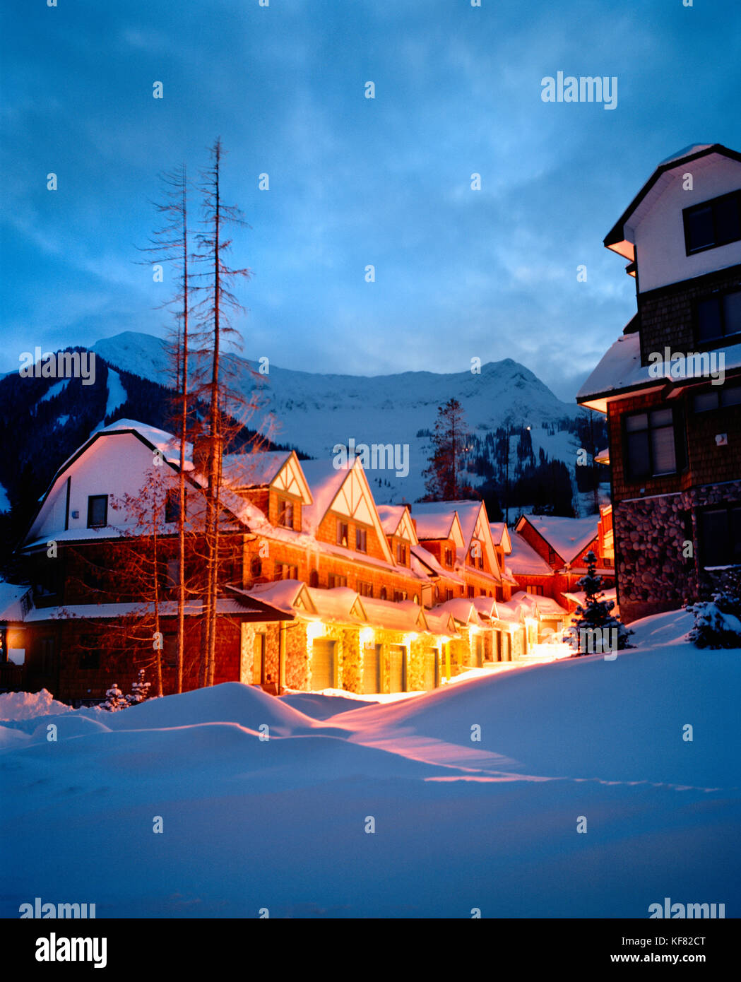 CANADA, BC Rockies, Lizard Creek Lodge at Fernie Alpine Ski Area - Stock Image