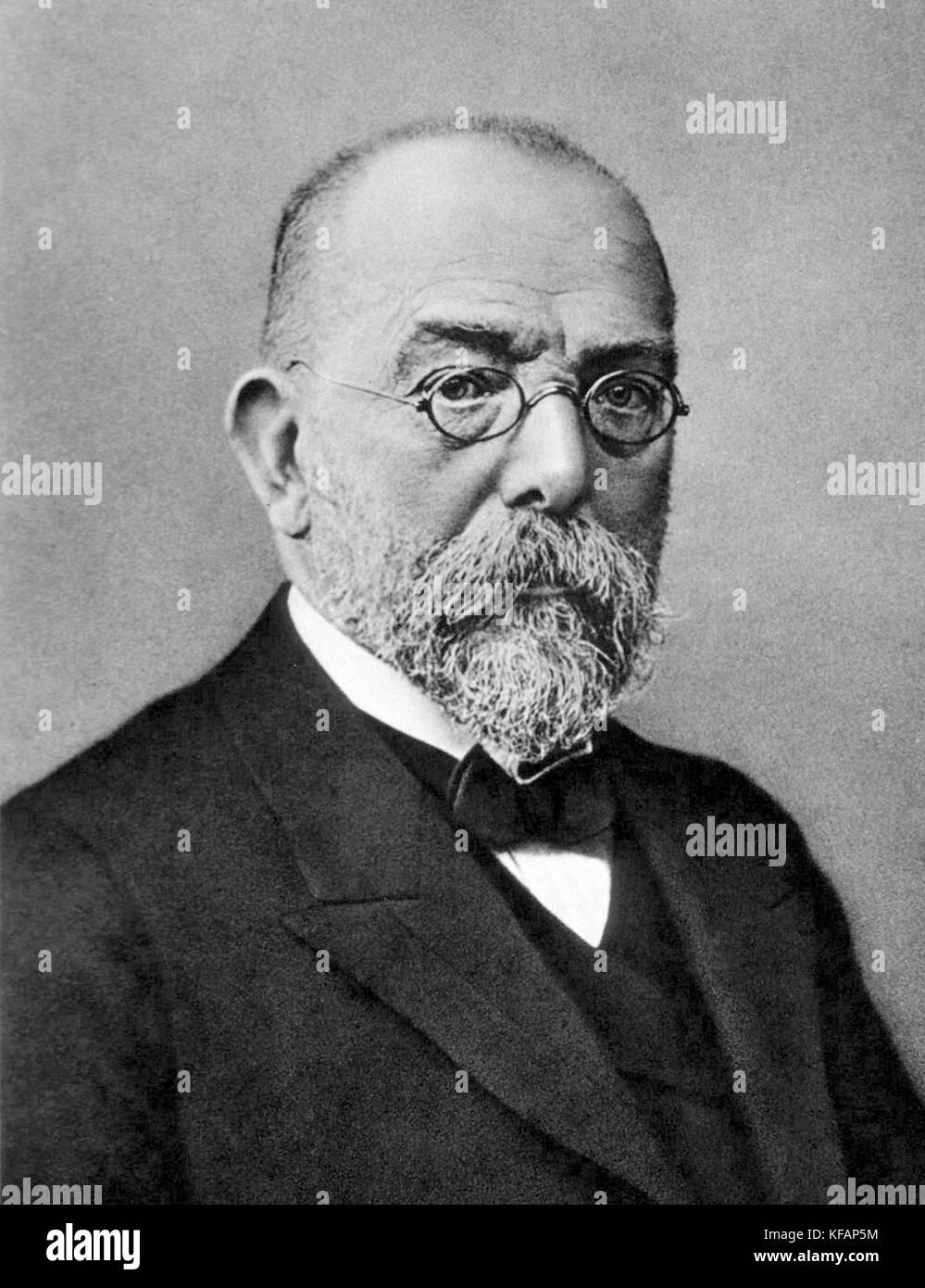 Robert Koch, Robert Heinrich Hermann Koch, German physician and pioneering microbiologist. - Stock Image