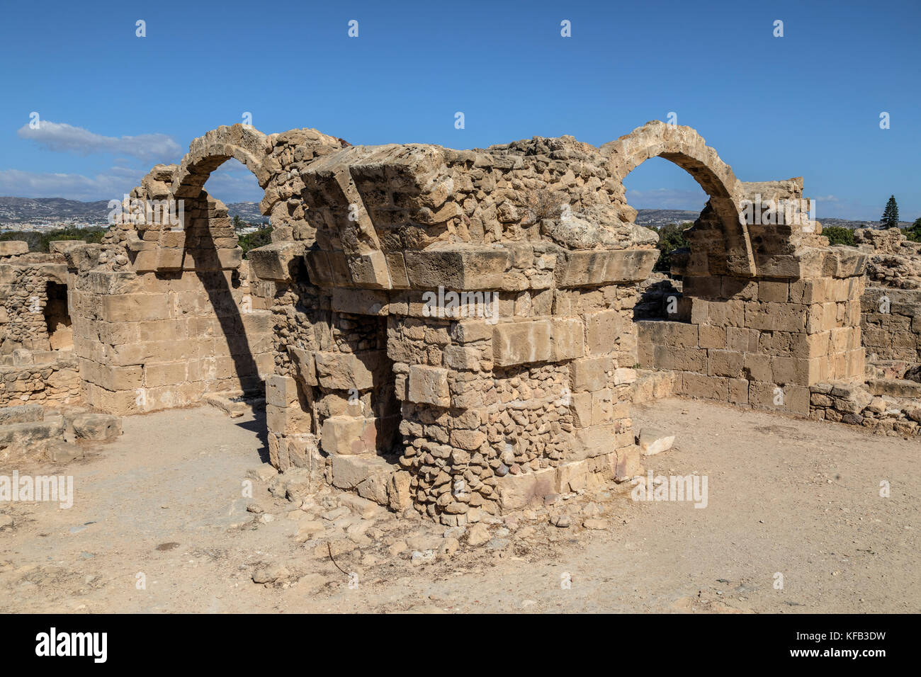 Paphos Archaeological Park, Paphos, Cyprus - Stock Image