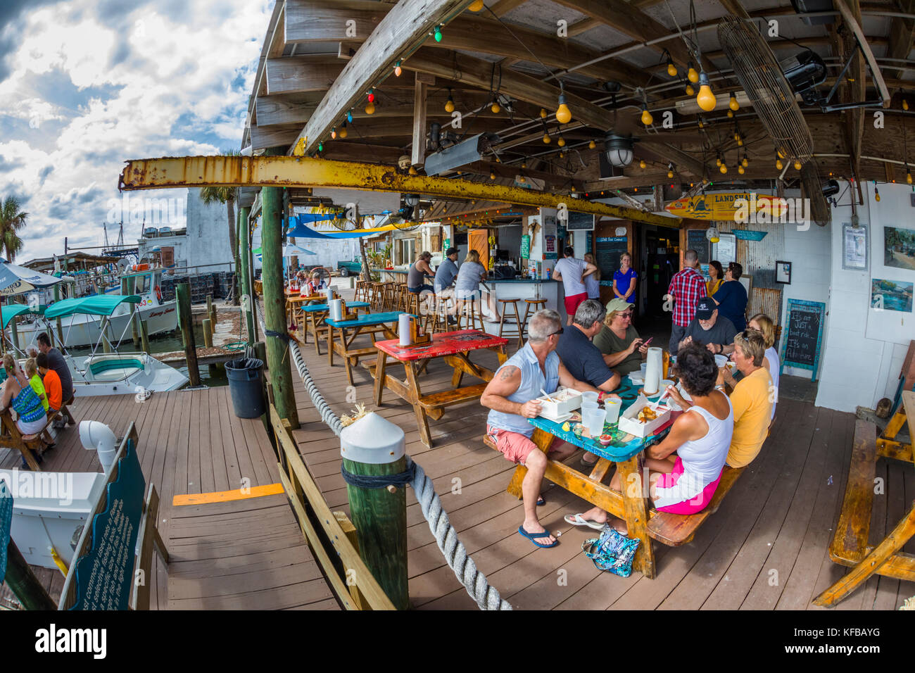 Dockside restaurant stock photos dockside restaurant for Village fish market