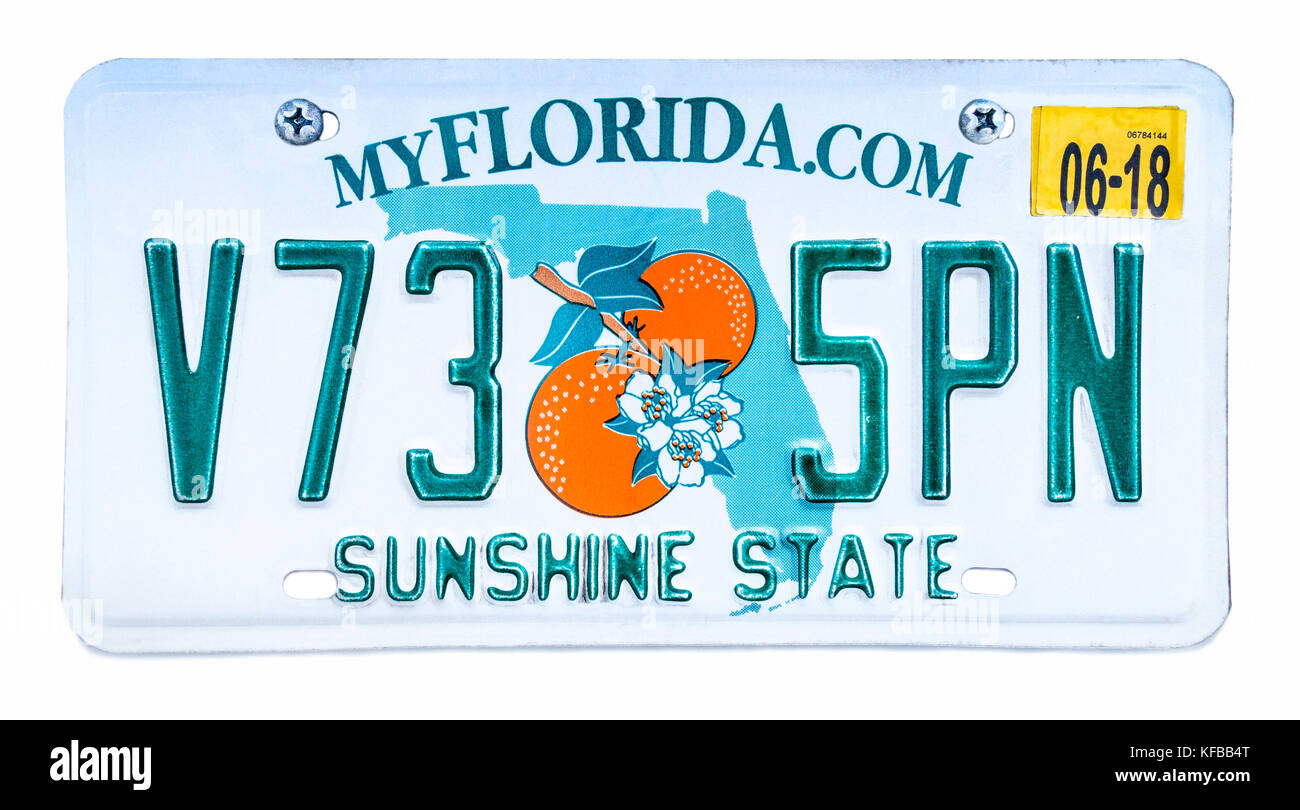 Florida Beach License Plates