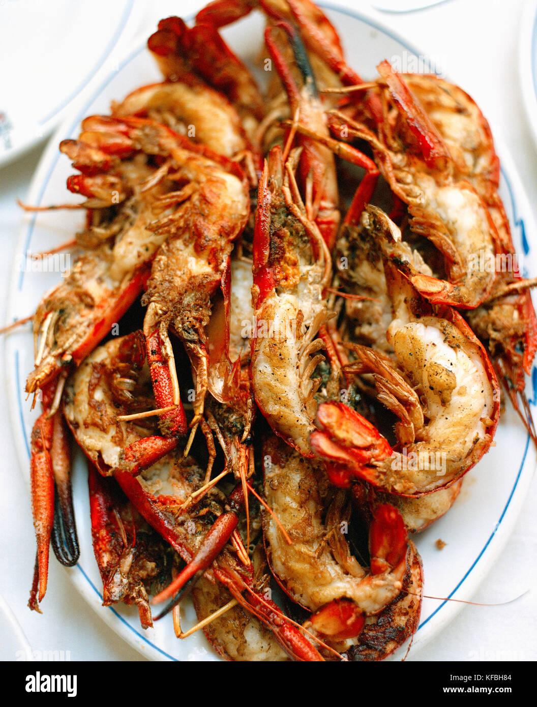 MEXICO, Mexico City, Danubio Restaurant,  close-up of shrimp - Stock Image