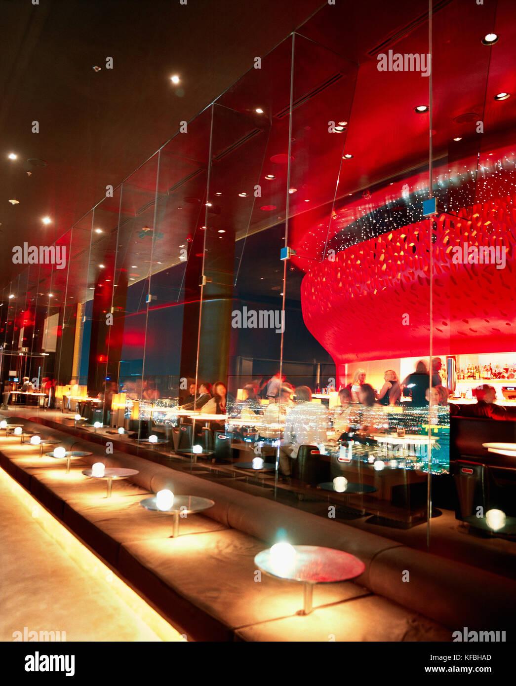 USA, Nevada, A bar at the Mandalay Hotel. - Stock Image
