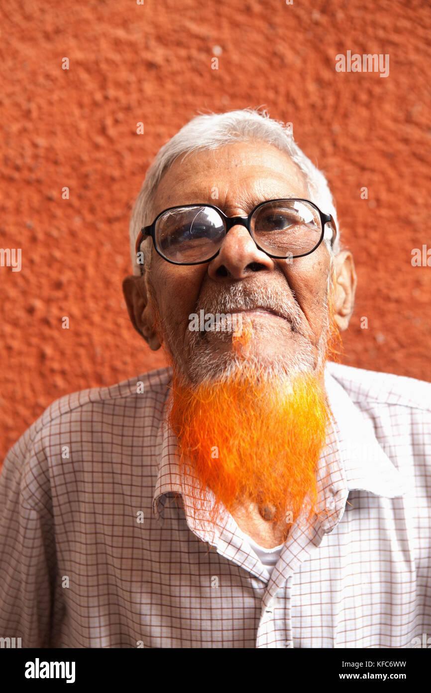MAURITIUS; Port Louis; street portrait of a man at the Port Louis Market - Stock Image