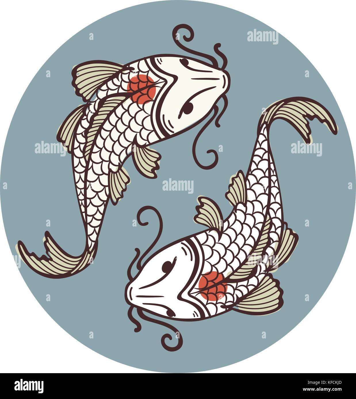 Koi carp tattoo stock photos koi carp tattoo stock for Koi fish representation