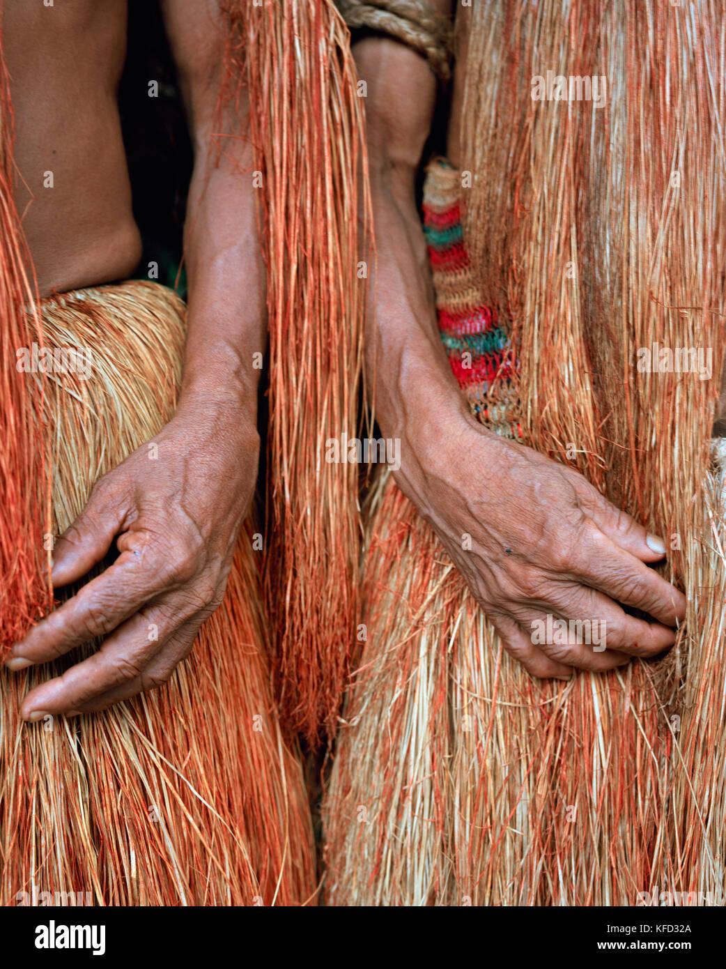 PERU, Amazon Rainforest, South America, Latin America, close-up of an Yagua Indian people hand - Stock Image