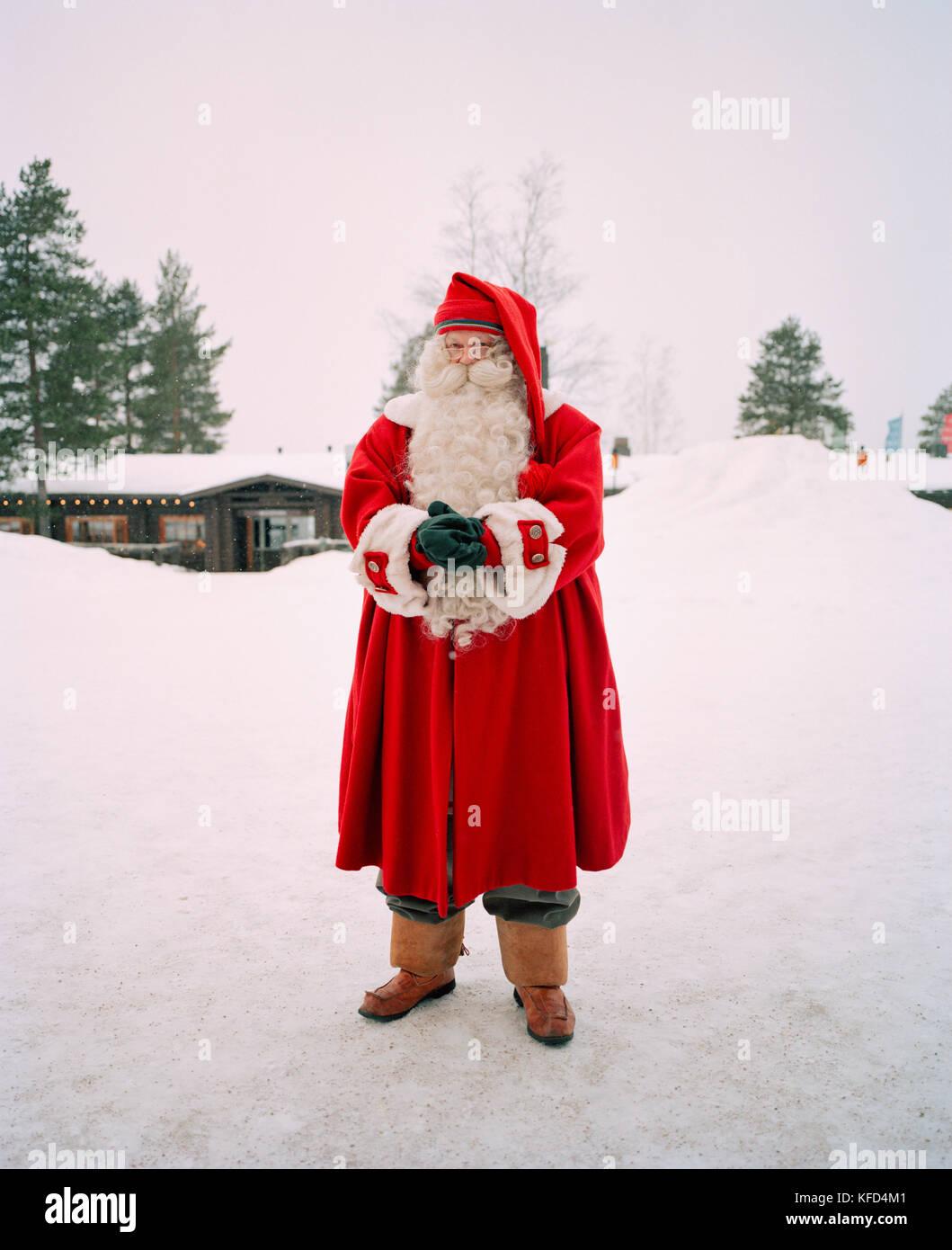 FINLAND, Rovaniemi, portrait of Santa Claus in the Santa Clause Village. - Stock Image