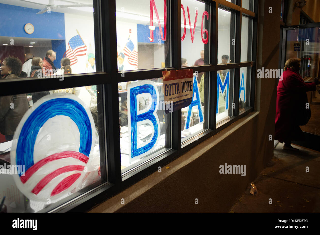 Busy office of the Obama re-election camping in Northwest Philadelphia, PA. - Stock Image