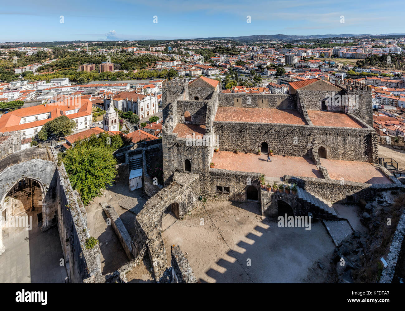 Medieval Castle of Leiria in Portugal, constructed by order of the first king of Portugal, Afonso Henriques, in - Stock Image