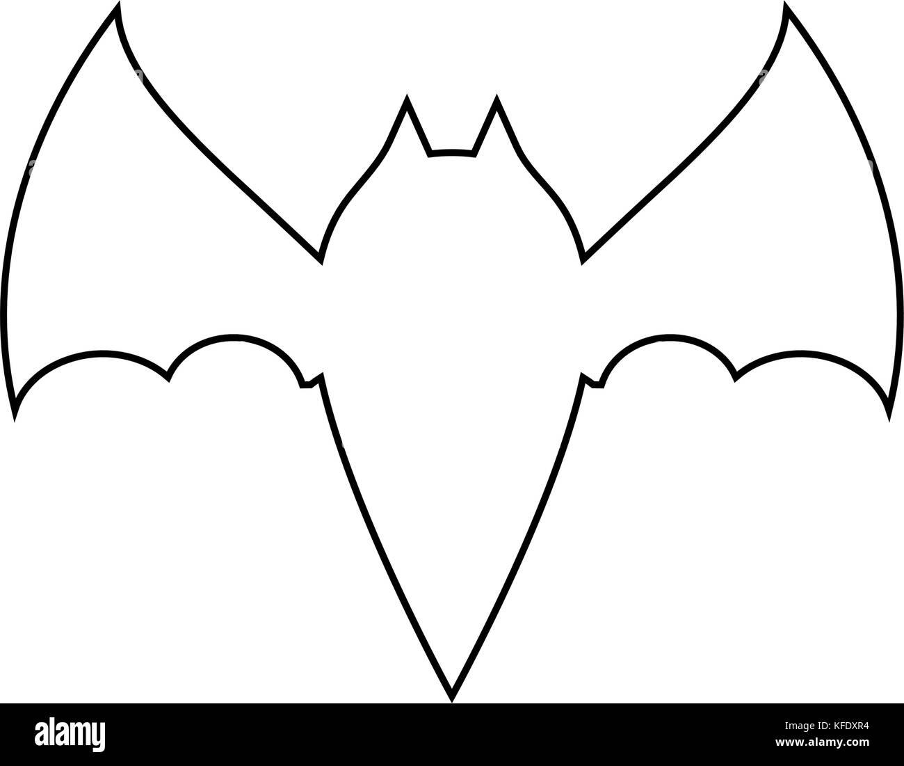 Black bat outline