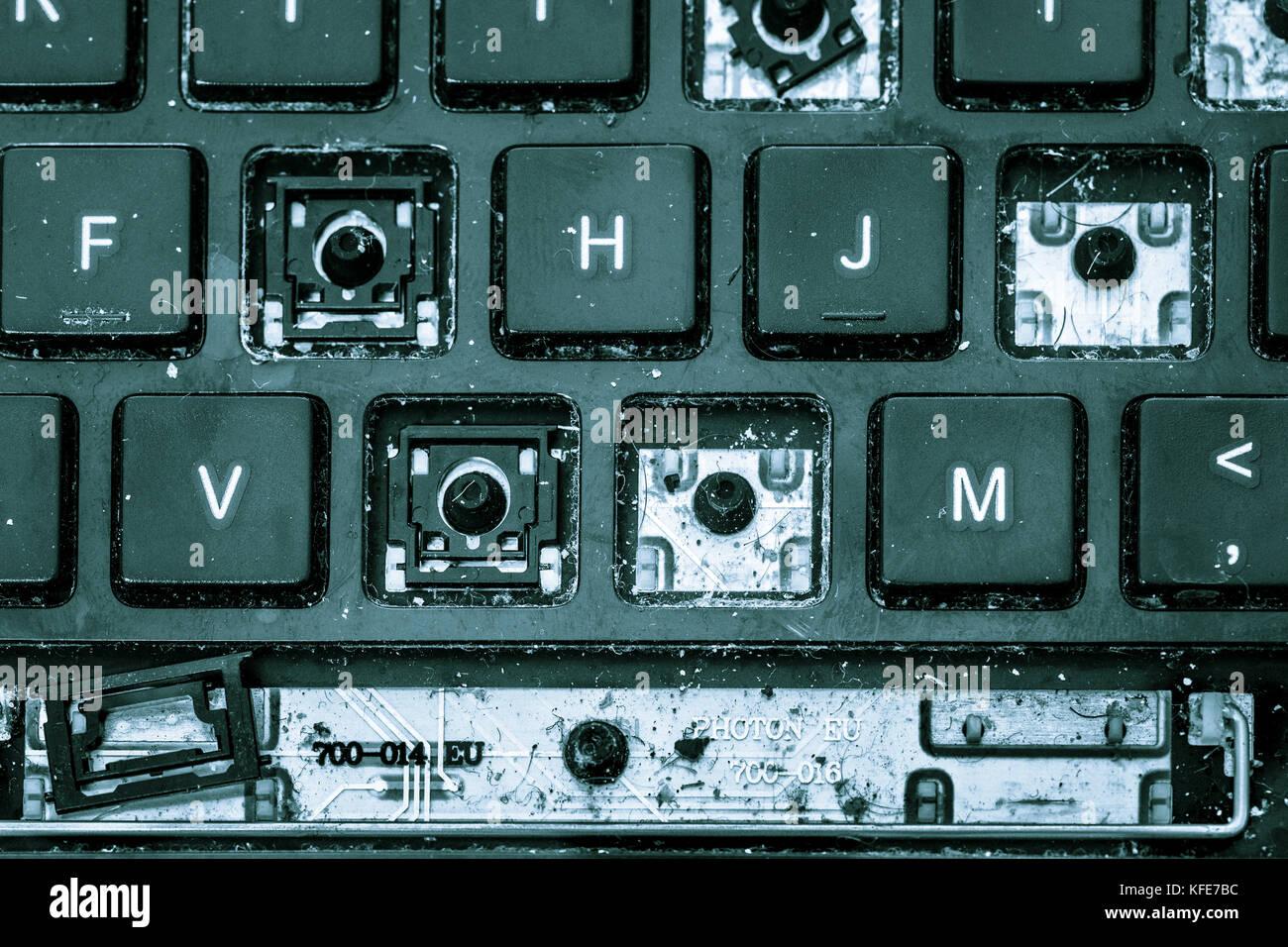 how to fix broken shift key on laptop