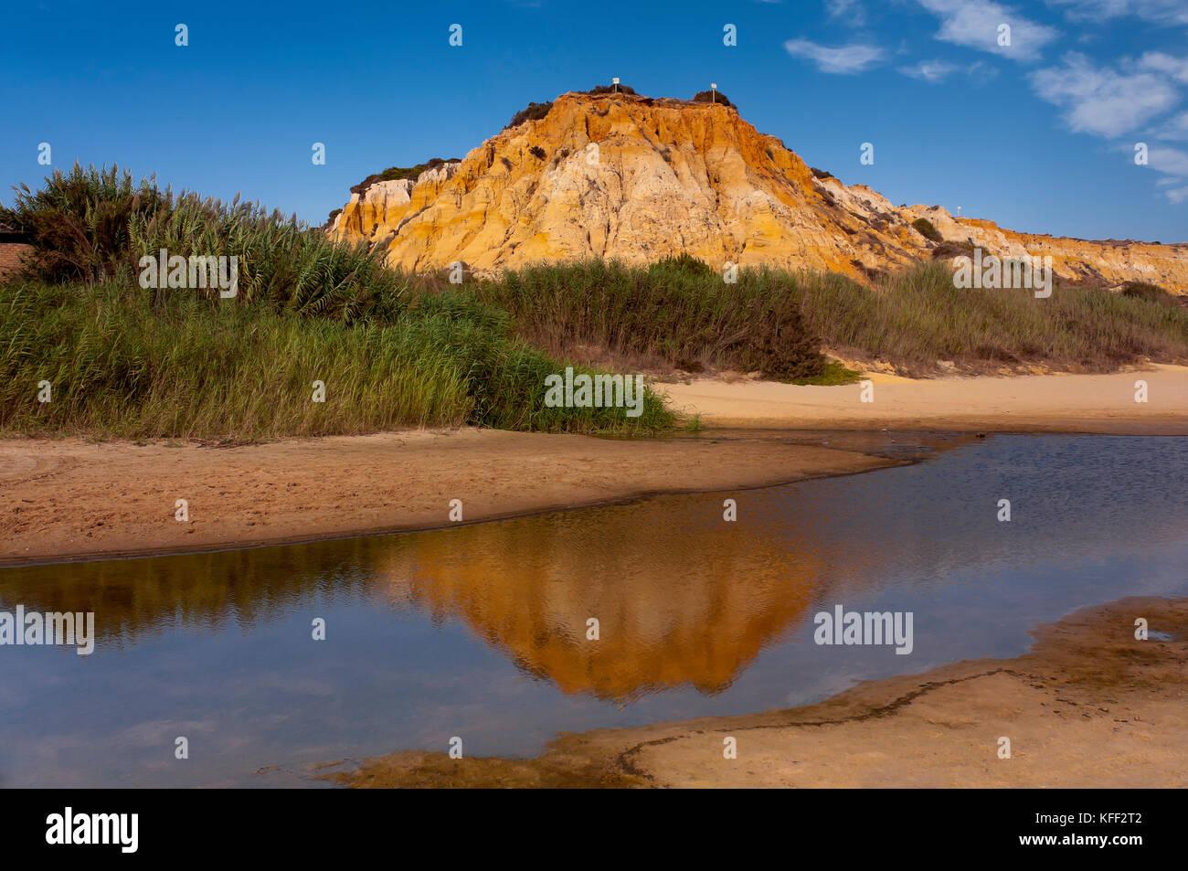 Torre del Loro beach and Dune of the Asperillo, Entorno de Donana Natural Park, Mazagon, Moguer, Huelva province, - Stock Image