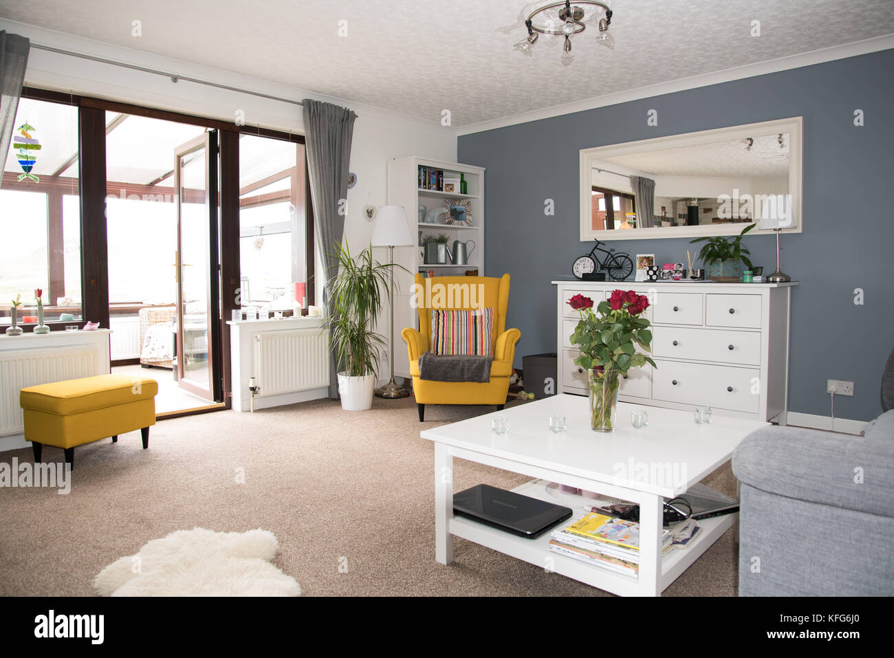 Buy furniture stock photos buy furniture stock images for Bright wallpaper for living room