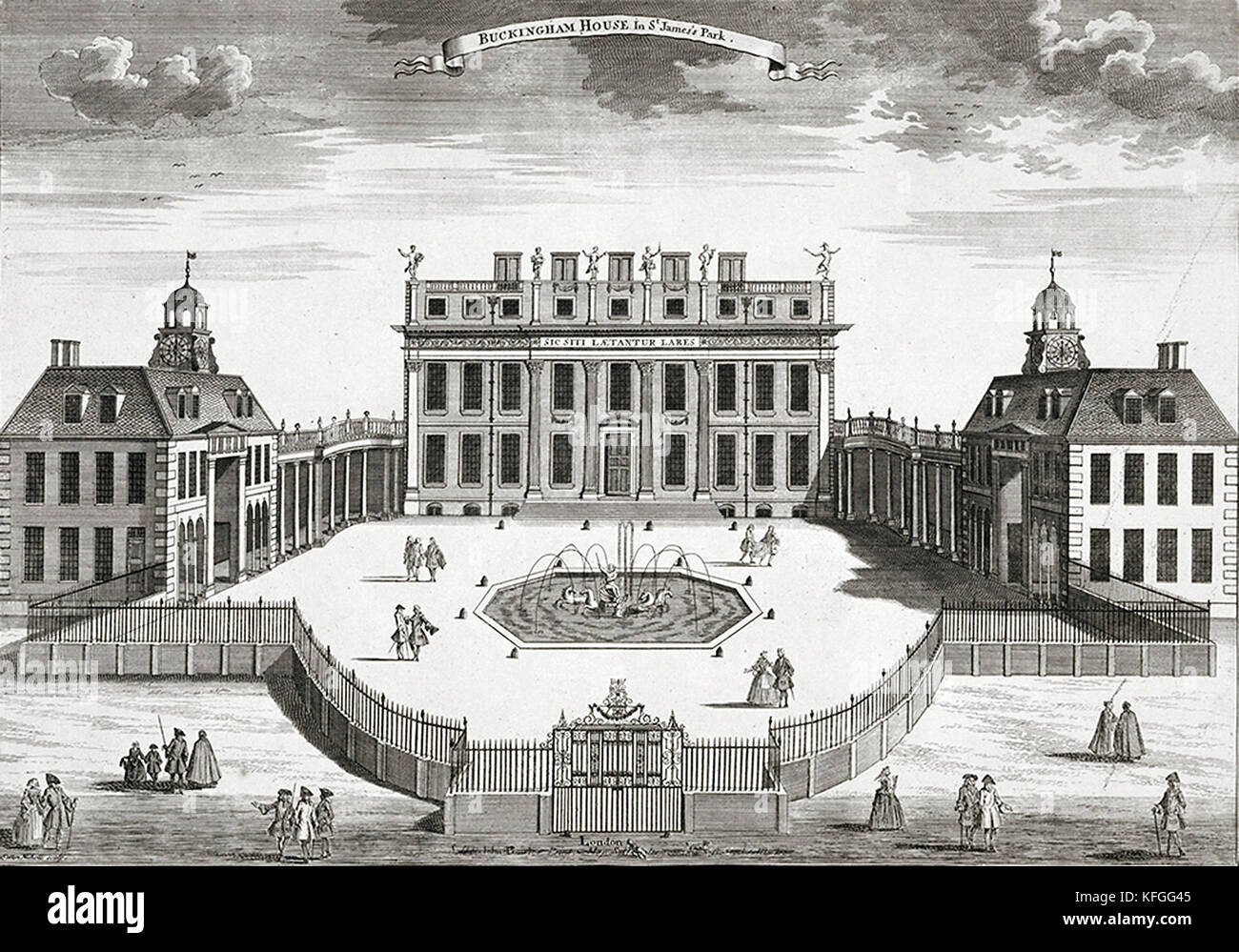 Buckingham Palace as it appeared in the early 18th century. - Stock Image