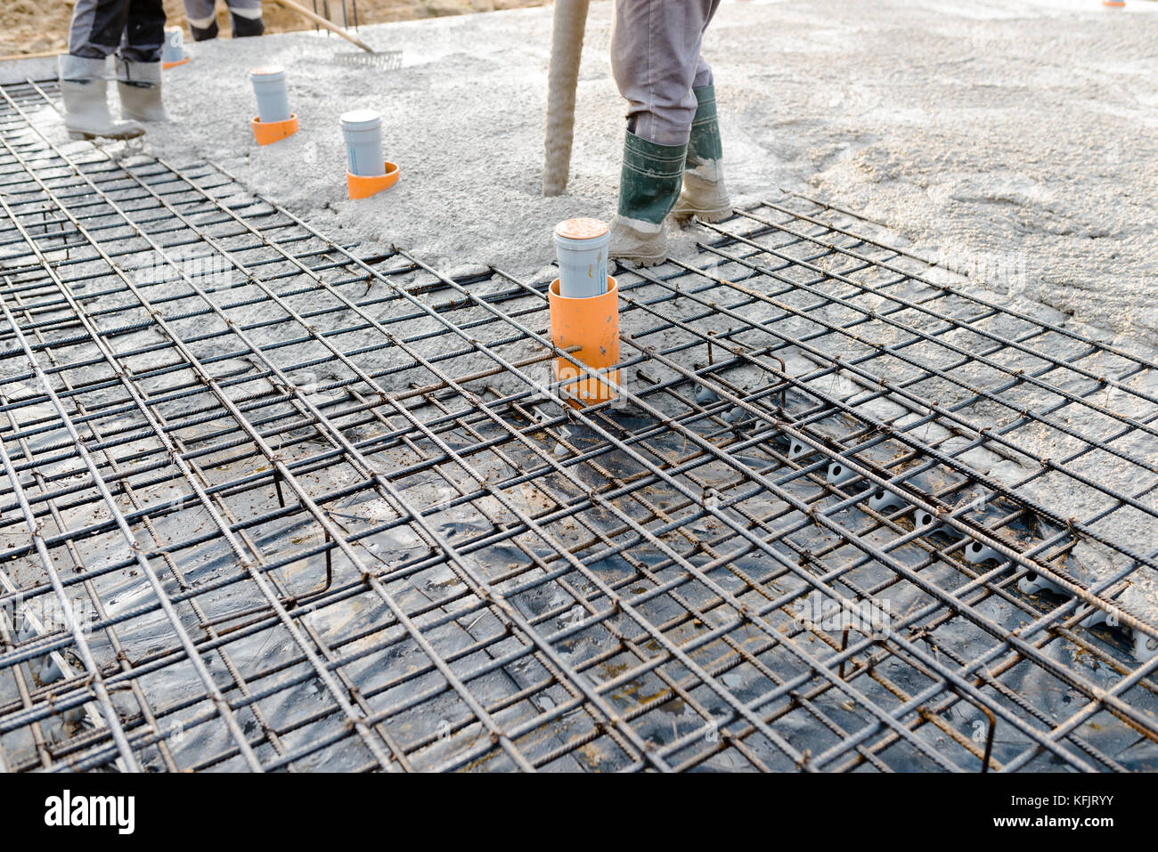 how to prepare slab for pouring