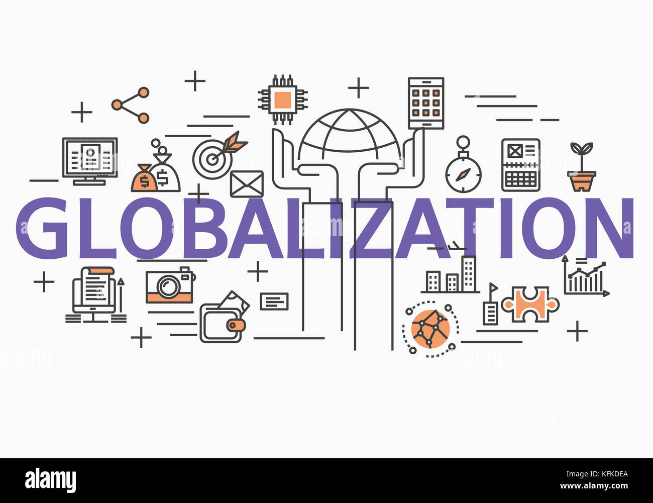 Infographic illustration related to GLOBALIZATION - Stock Image