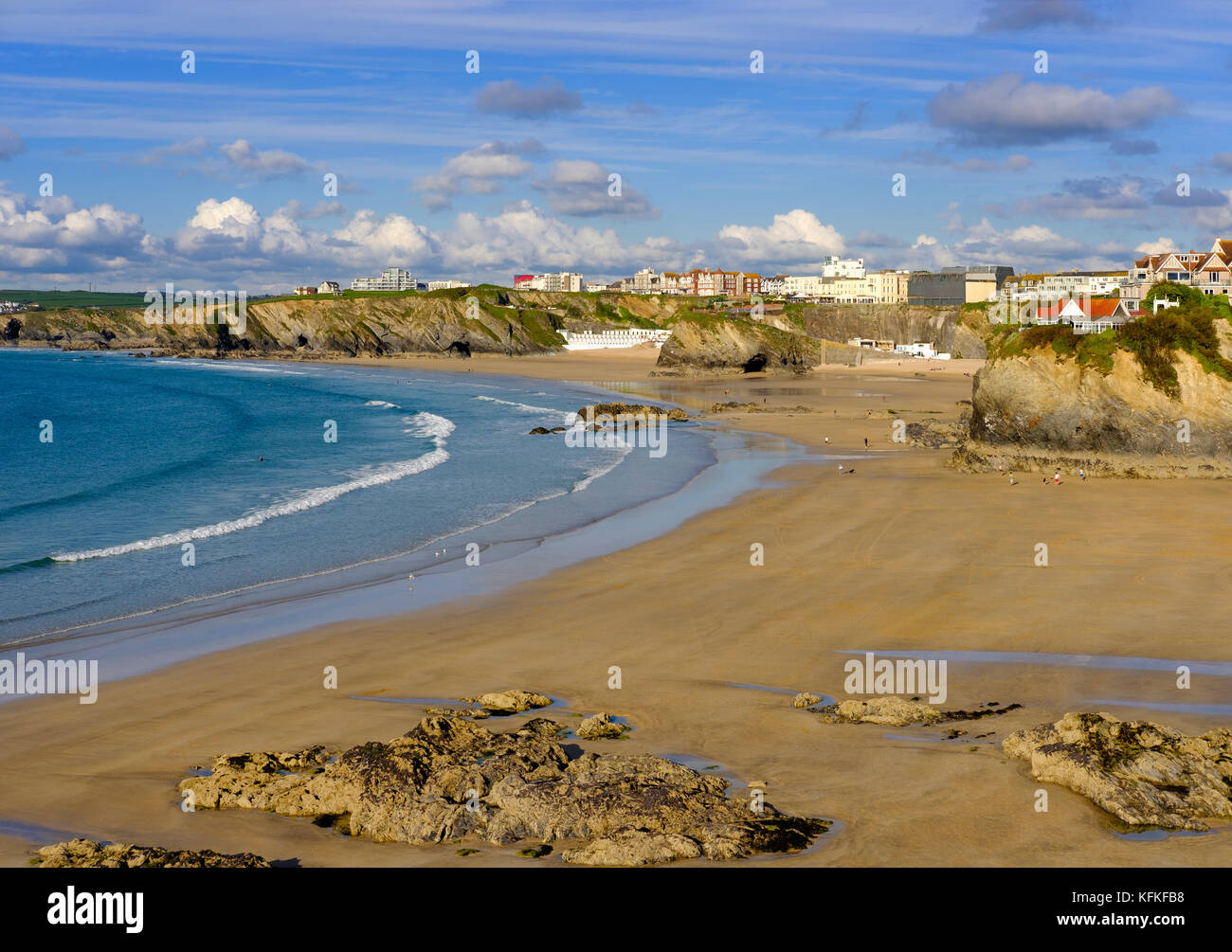 Towan Beach, Newquay, Cornwall, England, Great Britain - Stock Image