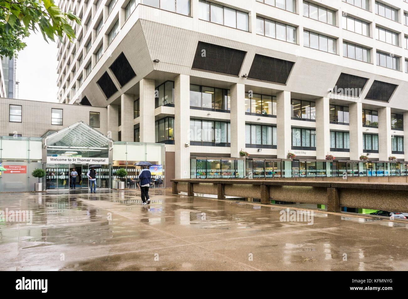 St Thomas Hospital, Westminster, London, England, GB, UK - Stock Image