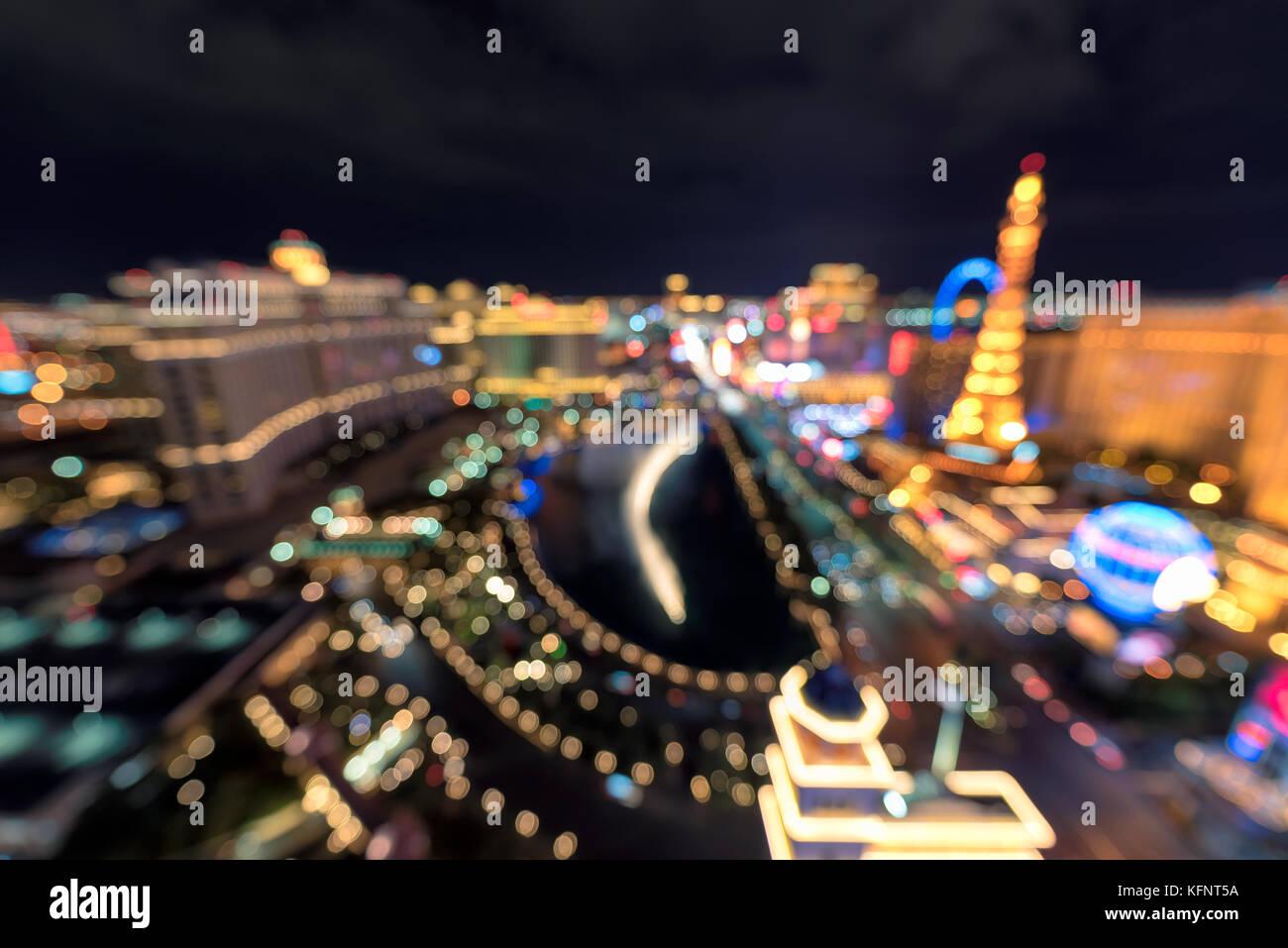 Las Vegas strip background - Stock Image