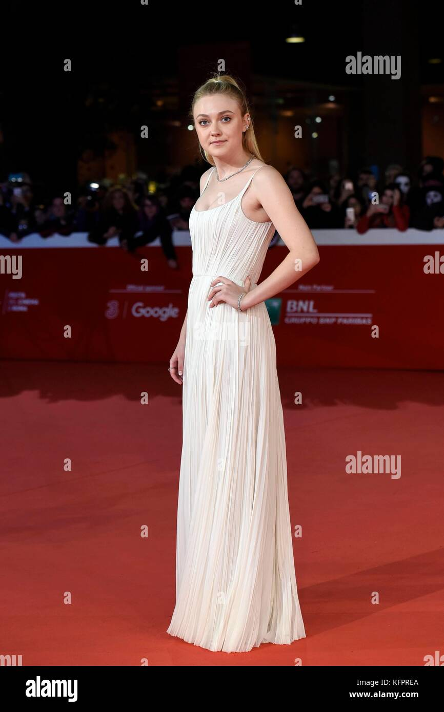 Rome, Italy. 31st Oct, 2017. Actress Dakota Fanning attends the red carpet of the movie 'Please stand by' - Stock Image