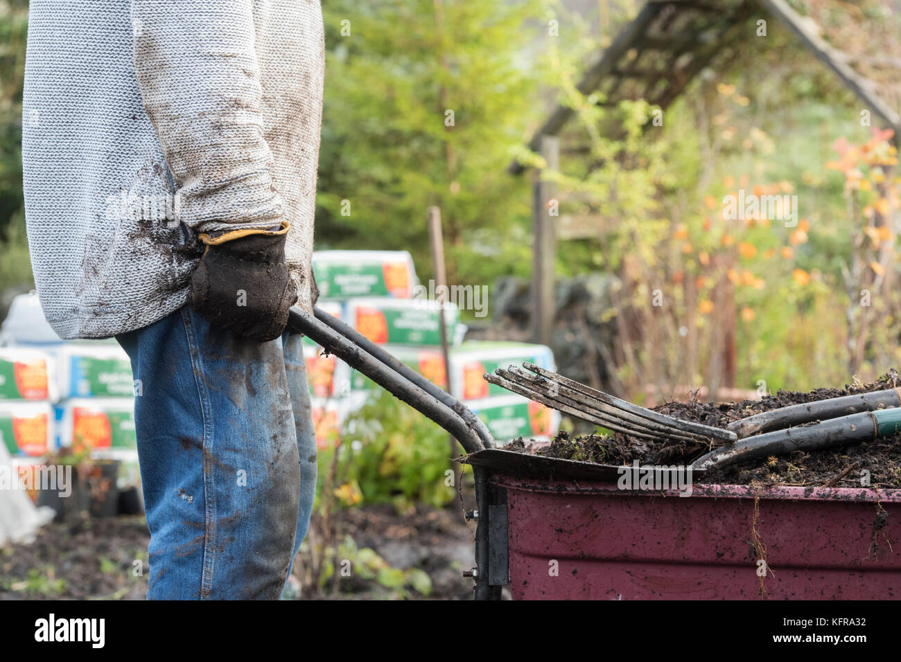 Dirty Wood Chips ~ Dirty jobs stock photos images alamy