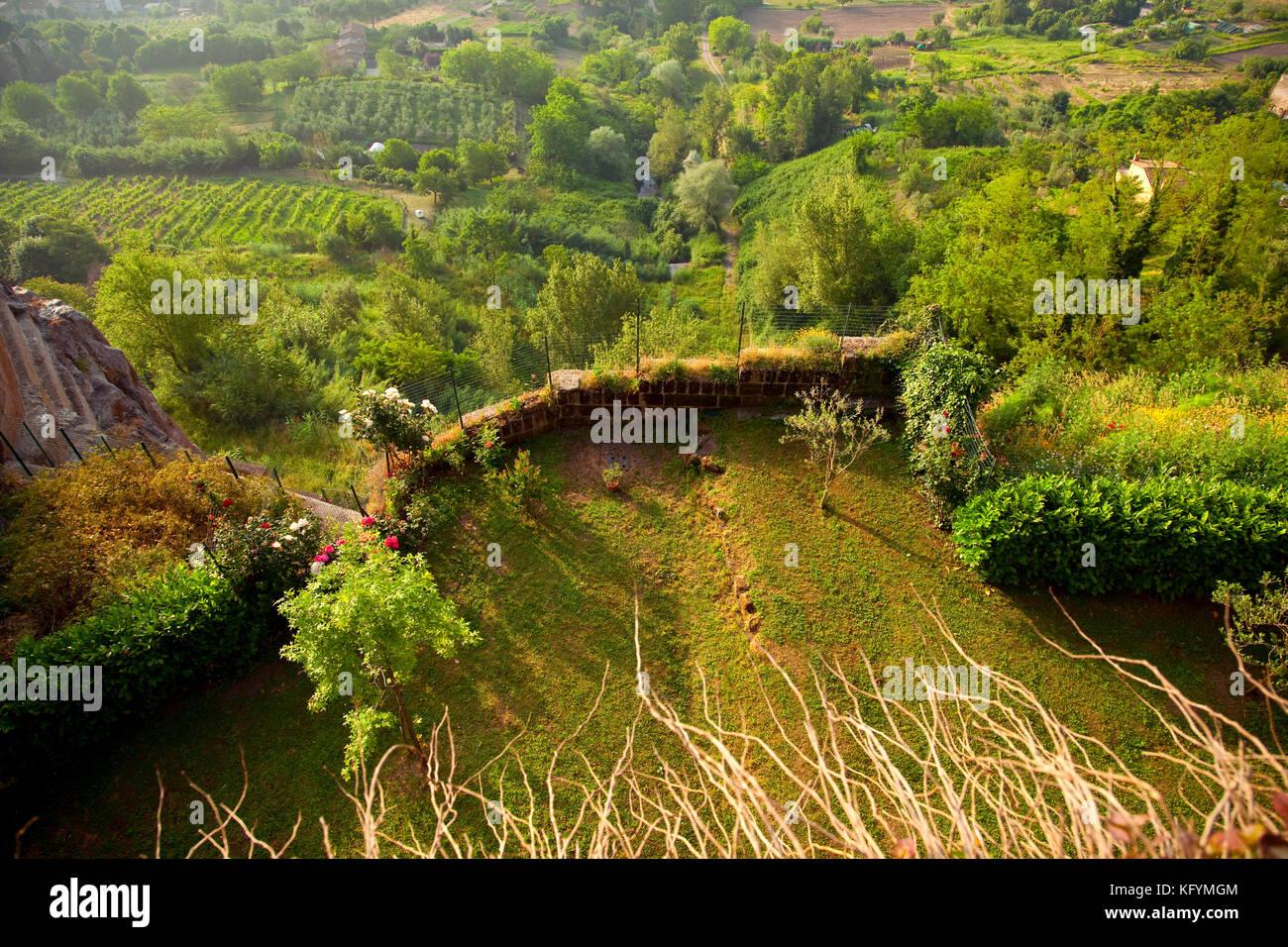 The green hillside of Orvieto, Italy. - Stock Image