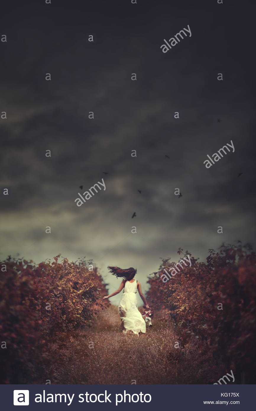 My Escape: a girl's runaway into her dreamworld - Stock Image