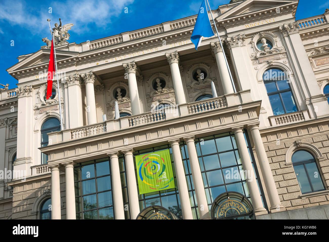 Opernhaus switzerland zurich stock photos