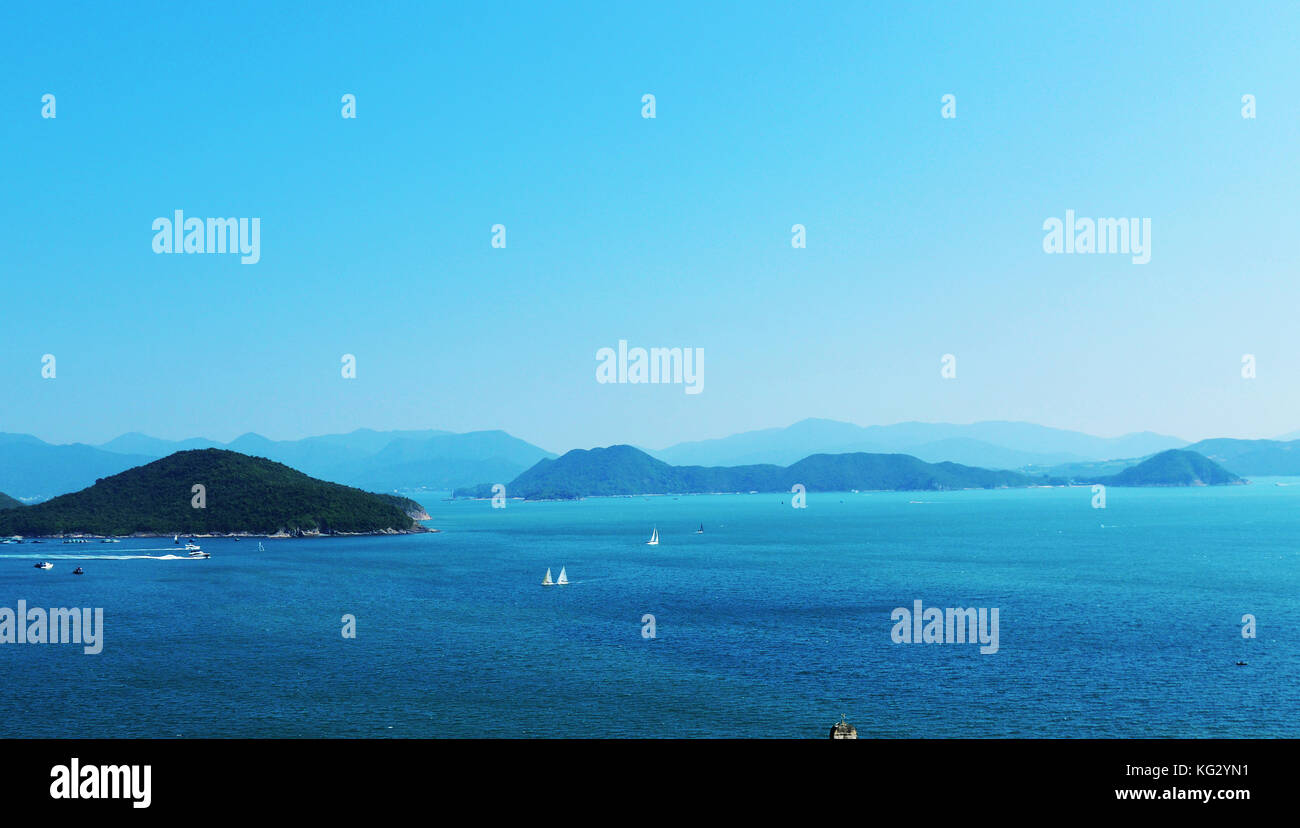 Clear water bay in Hong Kong. - Stock Image