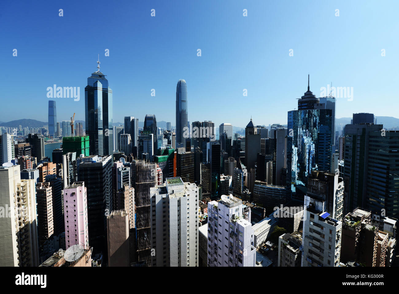 Skyline of Hong Kong's Central District. - Stock Image