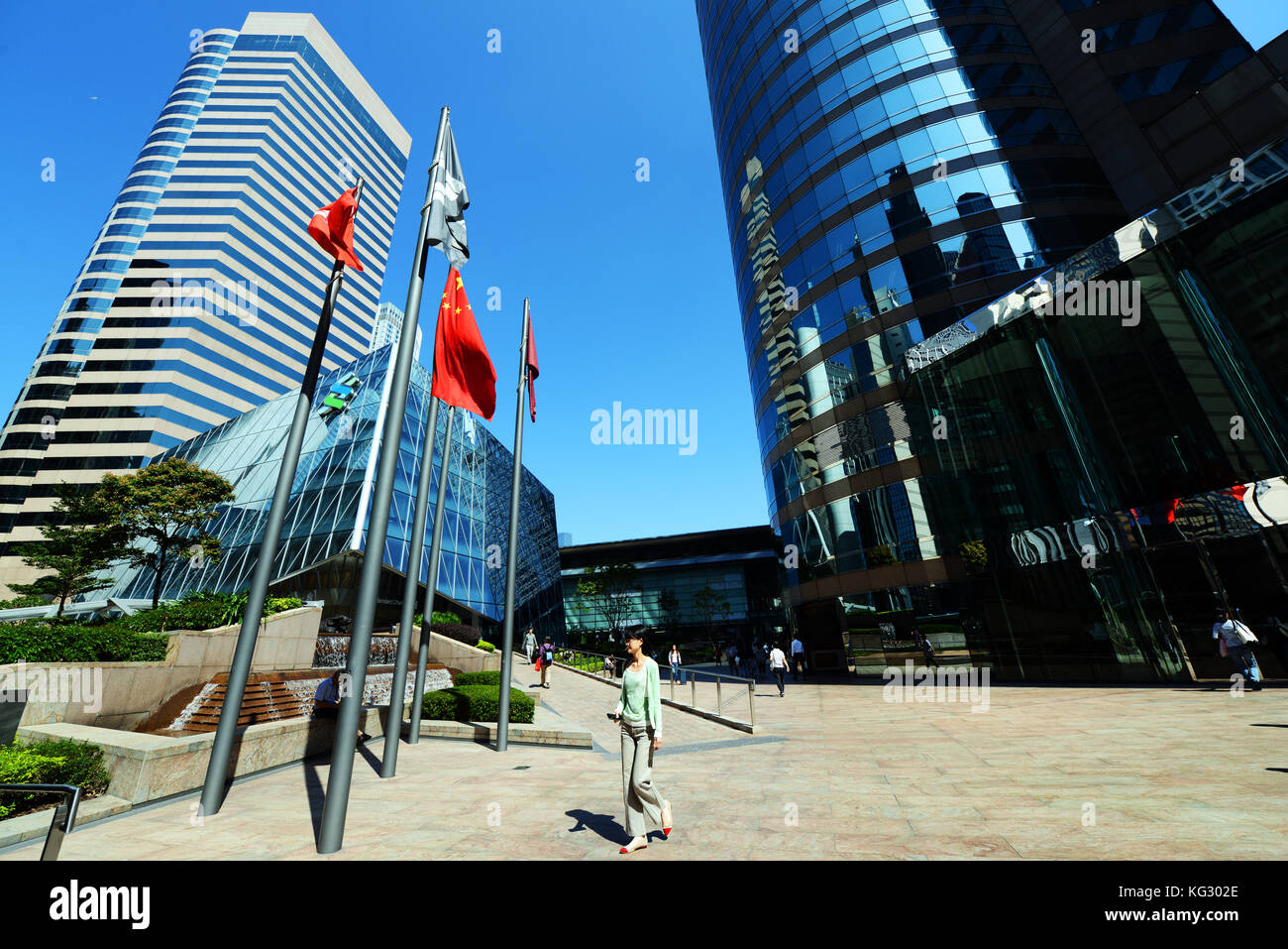 Exchange square in Hong Kong. - Stock Image