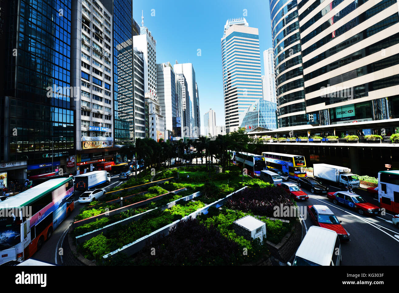 Hong Kong's Central District. - Stock Image
