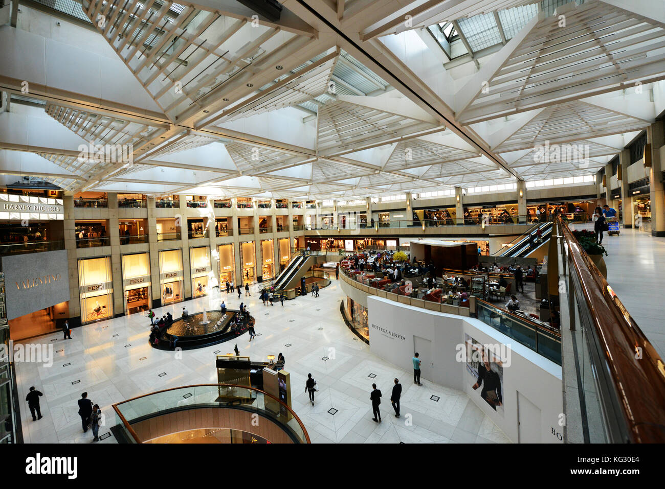 The Landmark shopping mall in Central, Hong Kong. - Stock Image