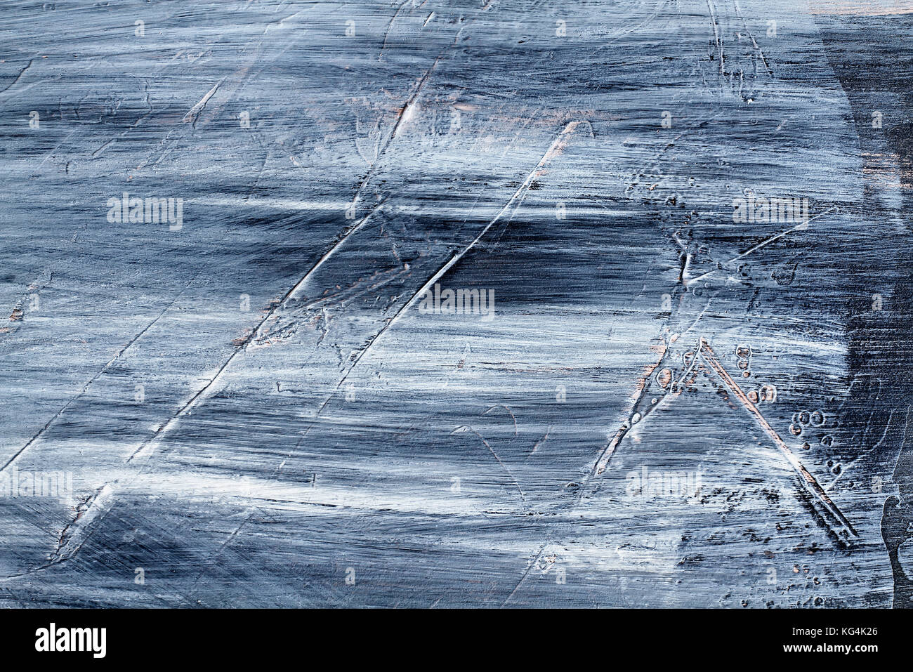 Hand painted grunge texture background with brush stroke marks and scratches. - Stock Image